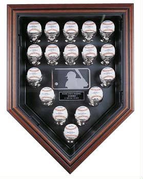 17 Baseball Home Plate display case cube