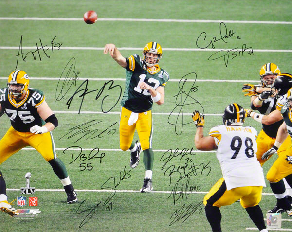 2010-11 Green Bay Packers Super Bowl Team Signed Photo