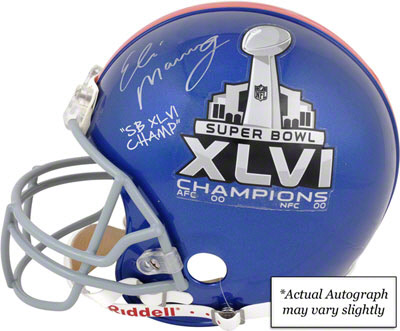 Eli Manning Super Bowl 46 Signed