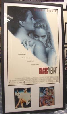Basic Instinct Movie Poster Autographed