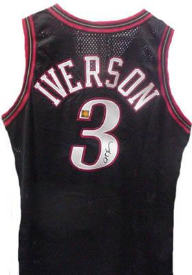 c0d1647f5d6 Official Philadelphia 76ers #3 basketball jersey autographed by Allen  Iverson